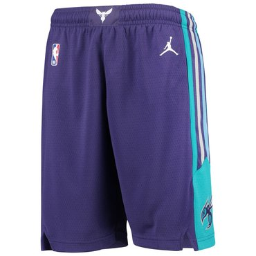 Men's Jordan Brand Purple Charlotte Hornets Icon Swingman Basketball Shorts
