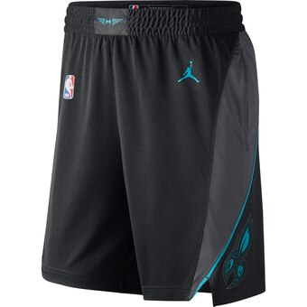 Men's Jordan Brand Black Charlotte Hornets Icon Swingman Basketball Shorts