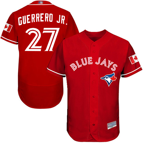Men's Toronto Blue Jays #27 Vladimir Guerrero Jr. Red Flexbase Authentic Collection Canada Day Stitched Baseball Jersey