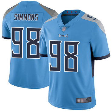 Titans #98 Jeffery Simmons Light Blue Alternate Youth Stitched Football Vapor Untouchable Limited Jersey