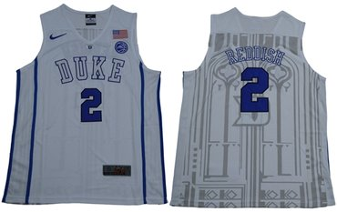 Blue Devils #2 Cameron Reddish White Basketball Elite Stitched College Jersey