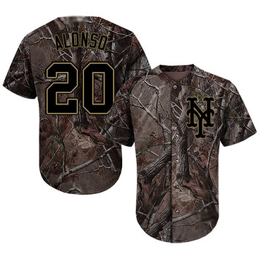 Mets #20 Pete Alonso Camo Realtree Collection Cool Base Stitched Baseball Jersey