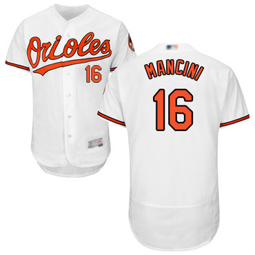 Orioles #16 Trey Mancini White Flexbase Authentic Collection Stitched Baseball Jersey