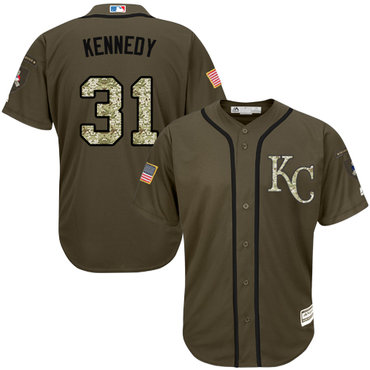 Royals #31 Ian Kennedy Green Salute to Service Stitched Baseball Jersey