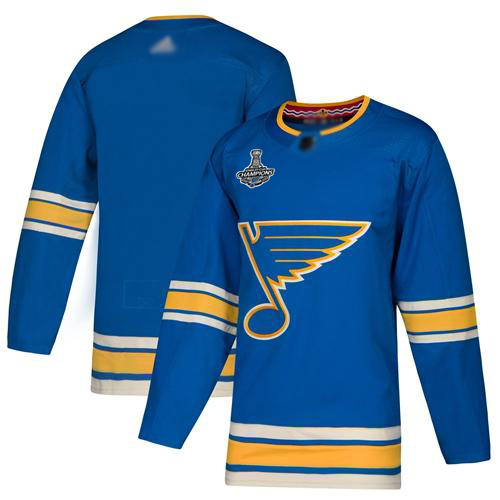 Blues Blank Blue Alternate Authentic Stanley Cup Champions Stitched Hockey Jersey
