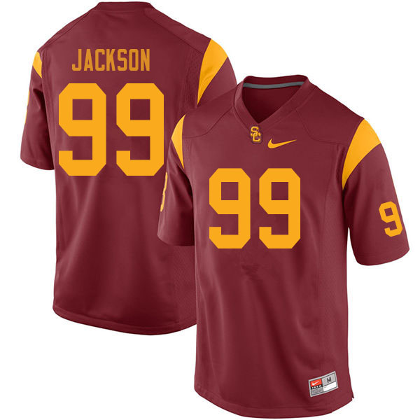 Men #99 Drake Jackson USC Trojans College Football Cardinal Jerseys