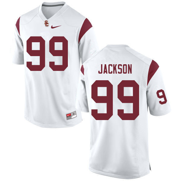 Men #99 Drake Jackson USC Trojans College Football White Jerseys