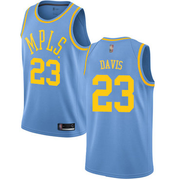 Youth Lakers #23 Anthony Davis Royal Blue Basketball Swingman Hardwood Classics Jersey