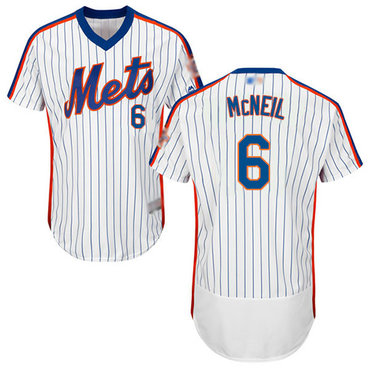 Mets #6 Jeff McNeil White(Blue Strip) Flexbase Authentic Collection Alternate Stitched Baseball Jersey