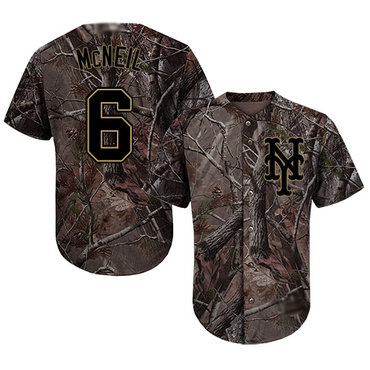 Mets #6 Jeff McNeil Camo Realtree Collection Cool Base Stitched Baseball Jersey