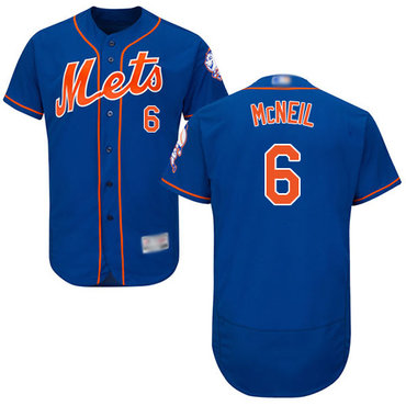 Mets #6 Jeff McNeil Blue Flexbase Authentic Collection Stitched Baseball Jersey