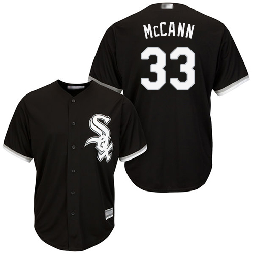 White Sox #33 James McCann Black New Cool Base Stitched Baseball Jersey