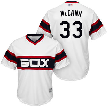 White Sox #33 James McCann White New Cool Base Stitched Baseball Jersey