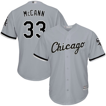White Sox #33 James McCann Grey New Cool Base Stitched Baseball Jersey