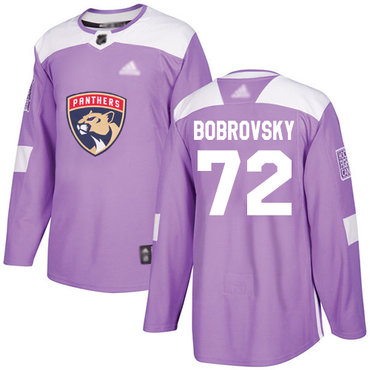 Panthers #72 Sergei Bobrovsky Purple Authentic Fights Cancer Stitched Hockey Jersey