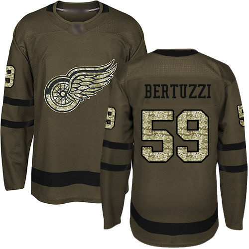 Red Wings #59 Tyler Bertuzzi Green Salute to Service Stitched Hockey Jersey