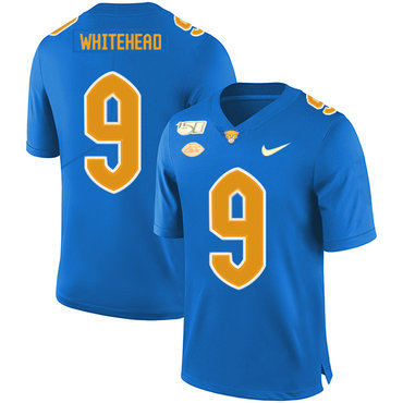 Pittsburgh Panthers 9 Jordan Whitehead Blue 150th Anniversary Patch Nike College Football Jersey