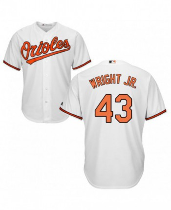 Men's Majestic Baltimore Orioles #43 Mike Wright Jr. Authentic White Home Cool Base Jersey