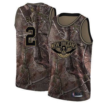 Pelicans #2 Lonzo Ball Camo Basketball Swingman Realtree Collection Jersey