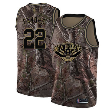 Pelicans #22 Derrick Favors Camo Basketball Swingman Realtree Collection Jersey