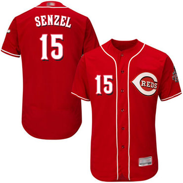Reds #15 Nick Senzel Red Flexbase Authentic Collection Stitched Baseball Jersey
