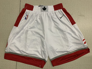 Raptors White Nike Swingman Shorts
