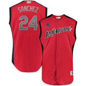 MLB American League 24 Gary Sanchez Red 2019 All-Star Game Men Jersey