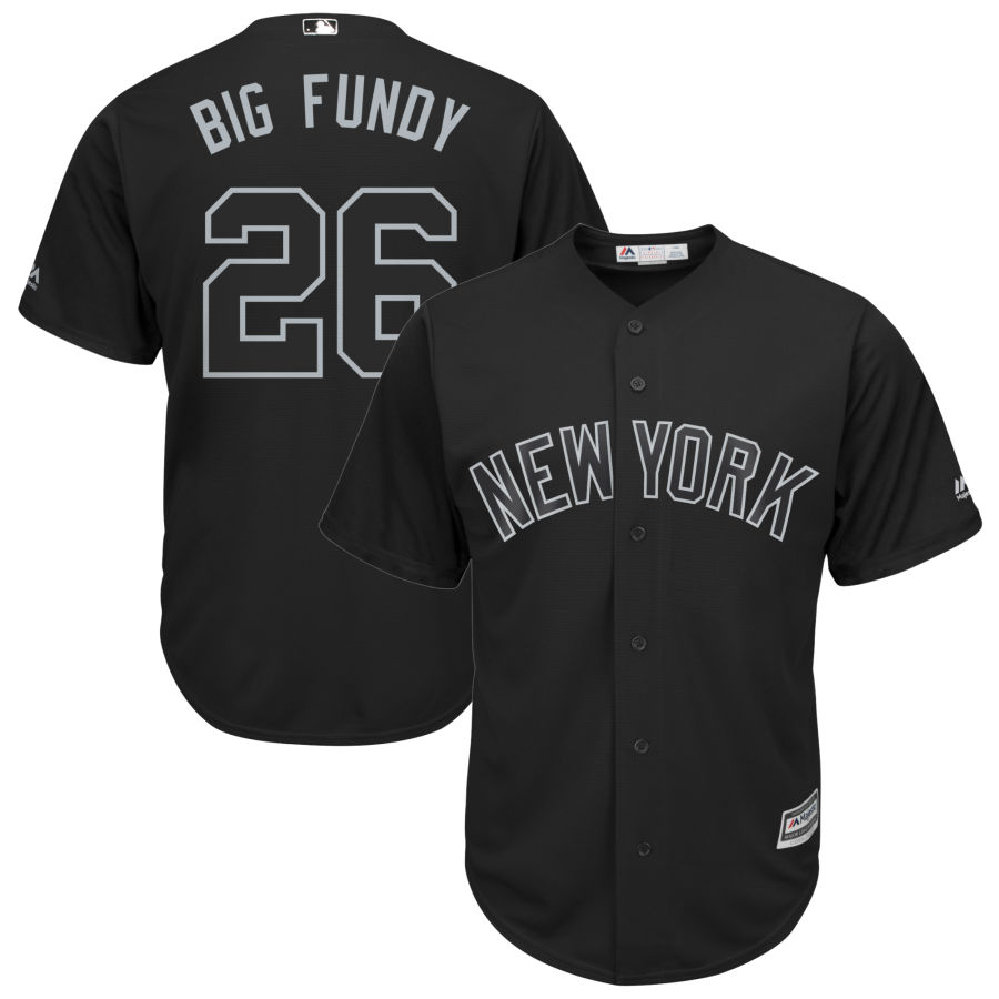 Men's New York Yankees 26 DJ LeMahieu Big Fundy Black 2019 Players' Weekend Player Jersey