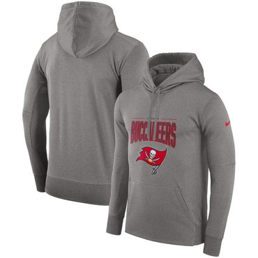 Tampa Bay Buccaneers Nike Sideline Property of Performance Pullover Hoodie Gray
