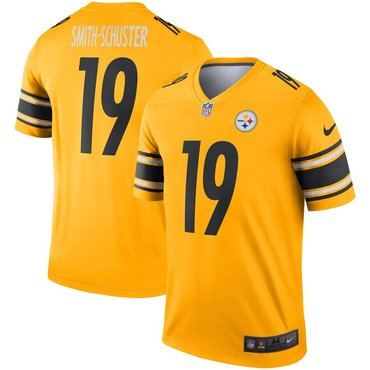 Nike Pittsburgh Steelers 19 JuJu Smith Schuster Gold Inverted Legend Jersey