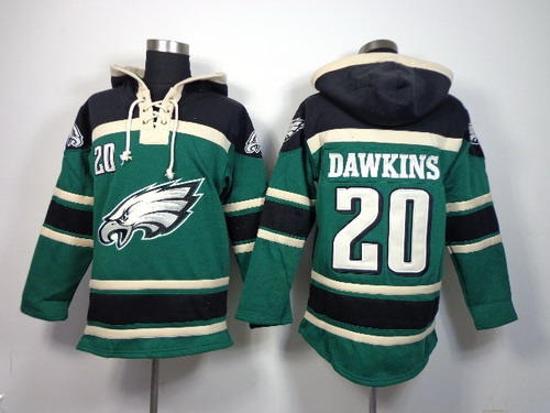 Philadelphia Eagles #20 Brian Dawkins 2014 Dark Green Hoodie