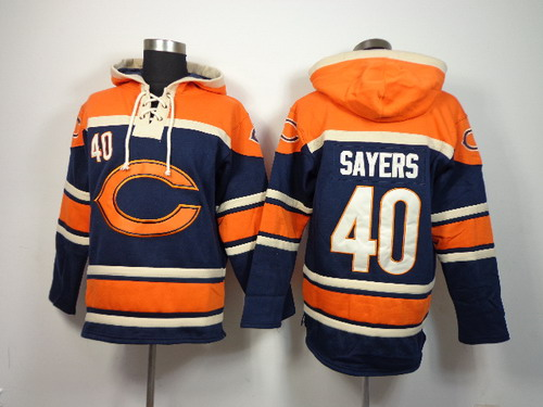 Chicago Bears #40 Gale Sayers 2014 Blue Hoodie
