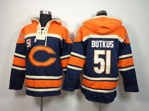 Chicago Bears #51 Dick Butkus 2014 Blue Hoodie