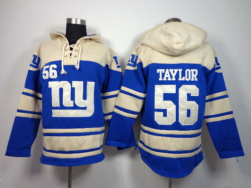 New York Giants #56 Lawrence Taylor 2014 Blue Hoodie