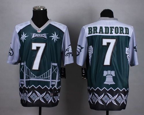 Nike Philadelphia Eagles #7 Sam Bradford 2015 Noble Fashion Elite Jersey