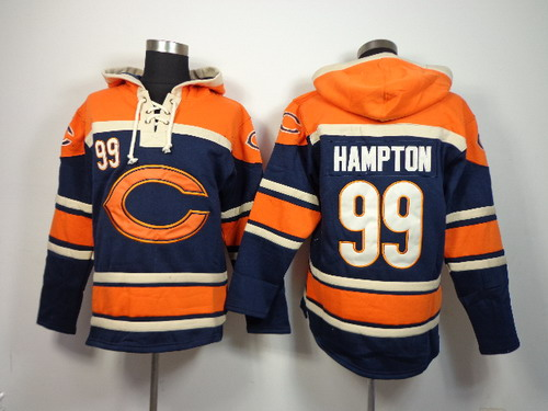 Chicago Bears #99 Dan Hampton 2014 Blue Hoodie