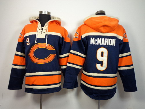 Chicago Bears #9 Jim McMahon 2014 Blue Hoodie