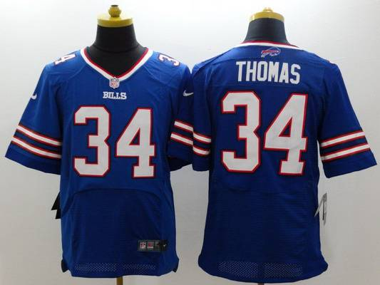 Men's Buffalo Bills #34 Thurman Thomas 2013 Nike Light Blue Elite Jersey