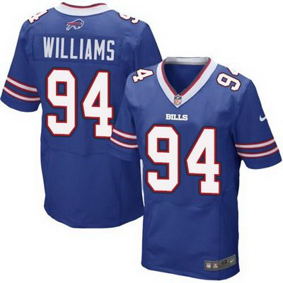 Men's Buffalo Bills #94 Mario Williams 2013 Nike Light Blue Elite Jersey