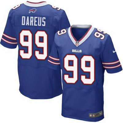 Men's Buffalo Bills #99 Marcell Dareus 2013 Nike Light Blue Elite Jersey