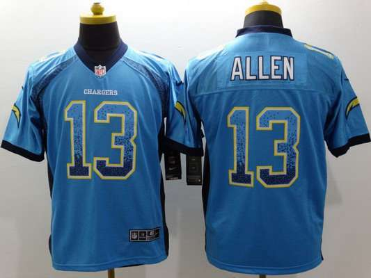 Men's San Diego Chargers #13 Keenan Allen Nike Drift Fashion Blue Elite Jersey