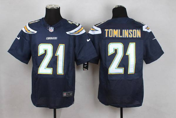 Men's San Diego Chargers #21 LaDainian Tomlinson 2013 Nike Navy Blue Elite Jersey