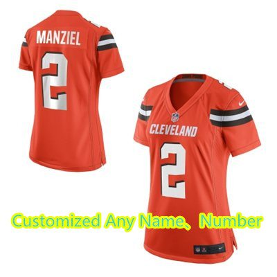 Women's Cleveland Browns Nike Orange Customized 2015 Game Jersey