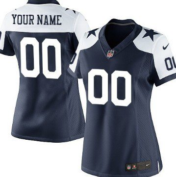 Women's Nike Dallas Cowboys Customized Blue Thanksgiving Game Jersey