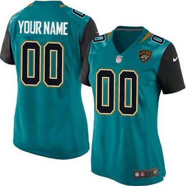 Women's Nike Jacksonville Jaguars Customized 2013 Green Game Jersey