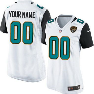 Women's Nike Jacksonville Jaguars Customized 2013 White Game Jersey