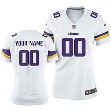 Women's Nike Minnesota Vikings Customized 2013 White Game Jersey