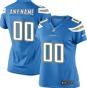 Women's Nike San Diego Chargers Customized 2013 Light Blue Game Jersey
