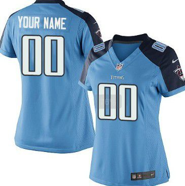 Women's Nike Tennessee Titans Customized Light Blue Game Jersey