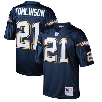 San Diego Chargers #21 LaDainian Tomlinson Dark Blue Throwback Jersey